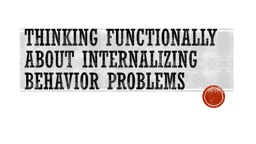 Thinking Functionally about internalizing PowerPoint PPT Presentation