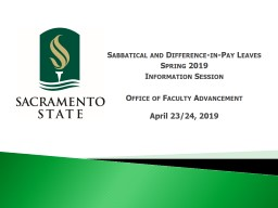 Sabbatical and  Difference-in-Pay