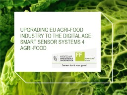 Upgrading EU agri-food industry to the digital age: