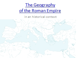 The Geography  of the Roman Empire