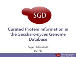 Curated Protein Information in the PowerPoint PPT Presentation