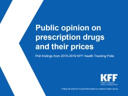 Public opinion on prescription drugs and their prices