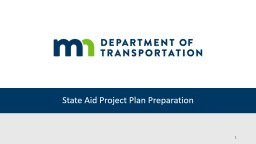 State Aid Project Plan Preparation