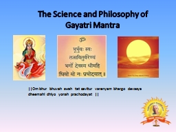 The Science and Philosophy of