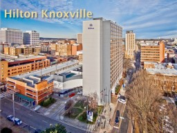 Hilton Knoxville   The Hilton Knoxville has been in business since 1981. We are a full-service Hilton-brand hotel since its opening and has operated under the current ownership since 2014