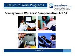 PPT-064-01  1 Return to Work Programs