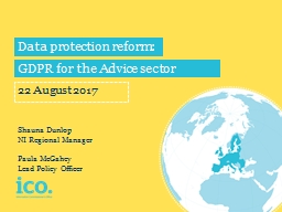 Data protection reform: PowerPoint PPT Presentation