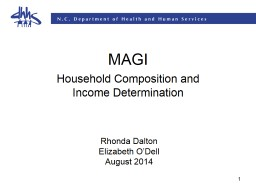 1 MAGI Household Composition and Income Determination