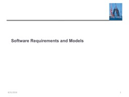 Software Requirements and Models