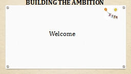 BUILDING THE AMBITION