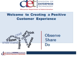 Welcome to Creating a Positive