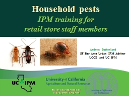 Household pests IPM training for