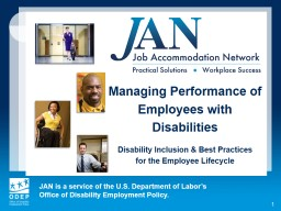 1 Managing Performance of Employees with Disabilities