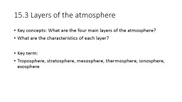 15.3 Layers of the atmosphere