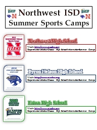 Northwest ISD   Summer Sports Camps
