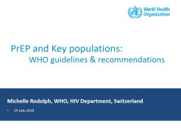 PrEP and Key populations:
