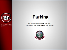 Parking and Transportation PowerPoint PPT Presentation
