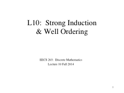 Strong  Induction  EECS 203:  Discrete