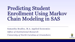 Predicting Student Enrollment Using Markov Chain Modeling in SAS