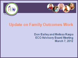 Update on Family Outcomes Work
