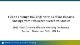 Health Through  Housing: North