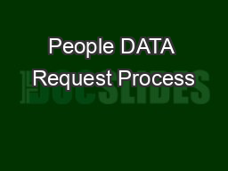 People DATA Request Process