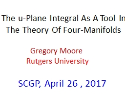 The u-Plane Integral As A Tool In The Theory Of Four-Manifolds