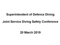 Superintendent of Defence Diving
