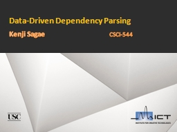 Data-Driven Dependency Parsing