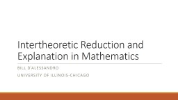 Intertheoretic  Reduction and Explanation in Mathematics