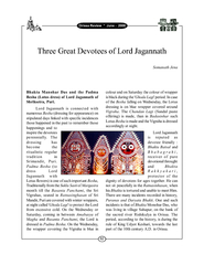 Three Great Devotees of Lord Jagannath Lord Jagannath