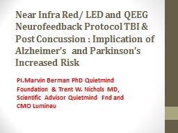 Near Infra Red/  LED and QEEG Neurofeedback Protocol TBI PowerPoint PPT Presentation