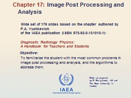 Slide set of 176 slides based on the chapter authored by
