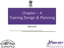 Chapter – 4                   Training Design & Planning