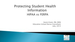 Protecting Student Health           		  Information