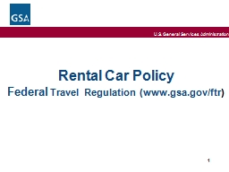 Rental Car Policy Federal