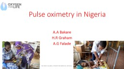 Pulse oximetry in Nigeria PowerPoint PPT Presentation