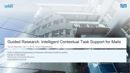 Guided Research: Intelligent Contextual Task Support for Mails
