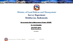 Ministry of Land Reform and Management