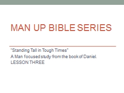 MAN UP Bible Series