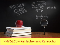 PHYSICS – Reflection and Refraction