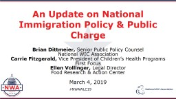 An Update on National Immigration Policy & Public Charge