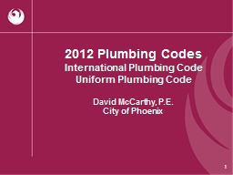 2012 Plumbing Codes PowerPoint PPT Presentation