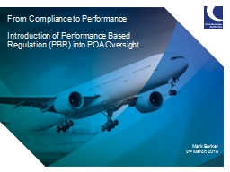From Compliance to Performance PowerPoint PPT Presentation