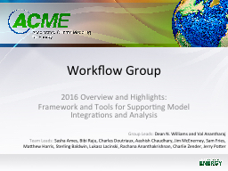 Workflow Group 2016 Overview and Highlights: