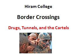 Hiram College Border Crossings