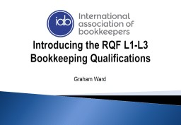Introducing the RQF L1-L3 Bookkeeping Qualifications