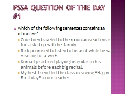 PSSA Question of the Day #1