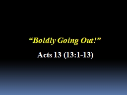 """""""Boldly Going Out!"""""""