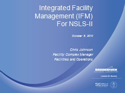 Integrated Facility Management (IFM) PowerPoint PPT Presentation